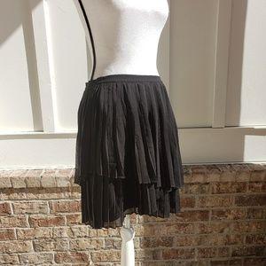 Joie chiffon black pleated skirt 8